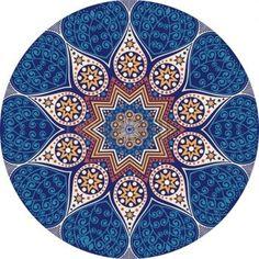 dibujo hindu: patrón ornamental del cordón redondo, fondo círculo con muchos detalles, parece ganchillo encaje hecho a mano Vectores