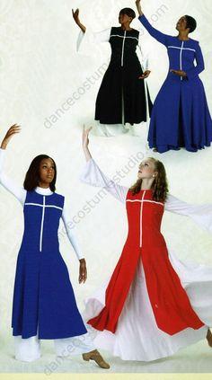 Cross Power Liturgical Dance Overdress Combos