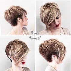 Pixie cut with long fringe