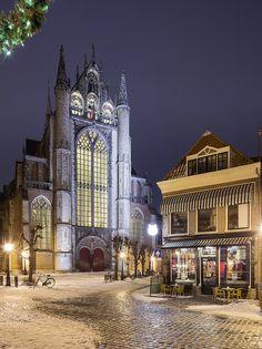Hooglandse kerk in Leiden, Netherlands.
