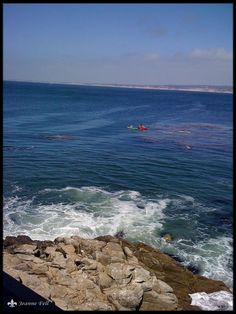 Kayakers in the Pacific - near Pebble Beach, CA