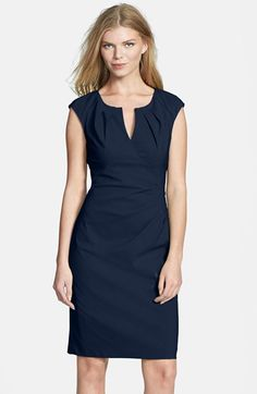 Free shipping and returns on Adrianna Papell Side Pleat Sheath Dress (Regular & Petite) at Nordstrom.com. A notched neckline framed with playful pleats tops a fitted cap-sleeve sheath detailed with more pleating at one side of the waist for a touch of dimension.