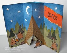 Camping Bears Pop-Up card inside by lorrinda - Cards and Paper Crafts at Splitcoaststampers