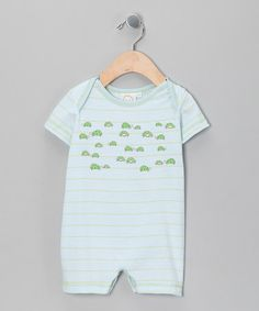 Take a look at this Blue Stripe Turtle Romper - Infant by Cloud Mine on @zulily today!