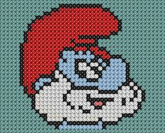Papa Smurf cross Stitch by drsparc on DeviantArt