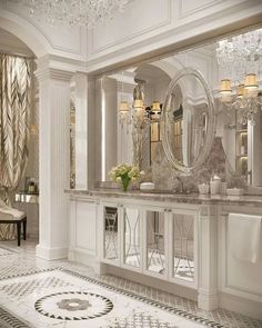 Luxury Master Bathrooms, Bathroom Design Luxury, Dream Bathrooms, Beautiful Bathrooms, Luxury Homes Interior, Luxury Home Decor, Home Interior Design, Classic Bathroom, Classic House