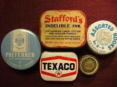 antique advertising tins