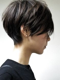 Bob Hairstyles For Fine Hair, Short Pixie Haircuts, Teen Hairstyles, Cute Hairstyles For Short Hair, Short Haircut, Curly Hair Styles, Casual Hairstyles, Messy Short Hair, Short Hair With Bangs