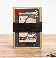 Machine Era Wallet- Solid Brass
