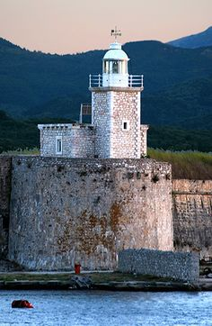 Lefkada lighthouse - Lefkada is a Greek island in the Ionian Sea on the west coast of Greece