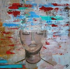 Original painting on canvas by CabArtVintage on Etsy, $1300.00
