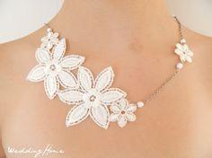 Wedding necklace, Lace necklace, lace, wedding necklaces, wedding accessory, bridal accessory, bridal necklaces, wedding, bride,