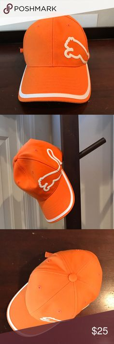🚶🏻MENS NWOT! Puma Cap NWOT! Bright orange cap with the signature puma on the side. Fully adjustable. Never worn. Brand new condition. Puma Accessories Hats