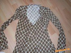 hnedo béžové zavinovacie šaty