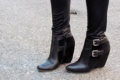 Go wedge not stiletto (i'd get something with a platformed toe because they are more comfy)