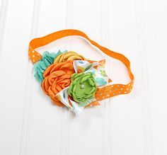 CLEARANCE HEADBAND  darling headband in fun colors of orange