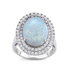 Zales Lab-Created Blue and White Sapphire Multi-Row Vintage-Style Band in Sterling Silver qTI2qa