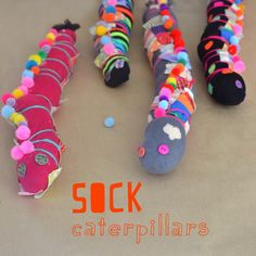 Sock Caterpillars -
