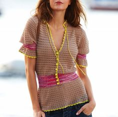 not my colors but I love simple crochet and pattern
