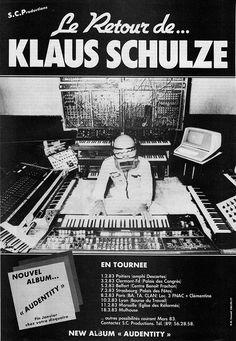Le retour de Klaus Schulze Poitiers, Clermont, Psychedelic Rock, Progressive Rock, Music Photo, Graphic Design Art, Electronic Music, Music Stuff, Challenges