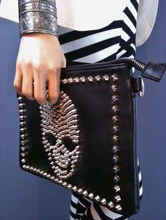 Heavy Metal Skull Handbag with Spikes! Rocker cool looks for hot rocker chicks! www.rockerchic.net