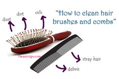 Don't know how to get rid of trapped hair and dirt from your hair brush? Here are some easy tips and tricks.