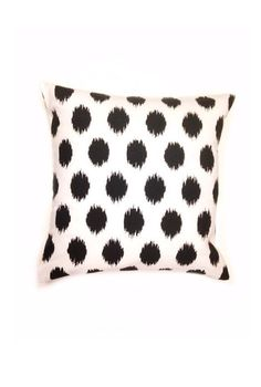 White with Black Pillow Sham  16x16  by SewPerfectionDesigns