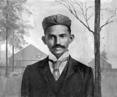 Gandhi (1869-1948) - Nom au complet : Mohandas Karamchand Gandhi - Photo prise en Afrique du Sud - en 1895 -
