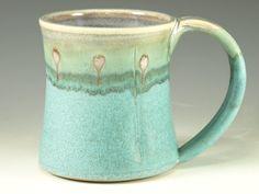 ++++Great glazing!++++Coffee Mug Cup large ceramic mugs with large by Hodakapottery