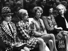 Barbra Streisand, Marlene Dietrich, Elsa Martinelli, Wearing Chanel Suits at Chanel Fashion Show Premium Photographic Print by Bill Eppridge at Art.com