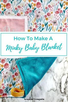 Making a Minky baby blanket is an easy sewing project for beginners. Minky baby blankets make great gifts for a baby shower or to sell. This Minky Baby Blanket DIY is a step-by-step photo tutorial that is super easy to follow. Make a Minky baby blanket for all the babies in your life!