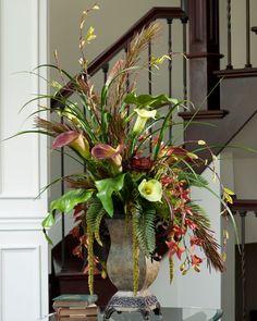 Deluxe Silk Ochids & Premium Lifelike Calla Lilies | Elegant and Hiqh Quality Floral Arrangements
