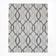 Ikat Links Rug, 9'x12', Frost Gray