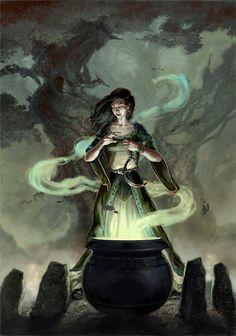 Luna Wicca: A Deusa Cerridwen Celtic Goddess, Celtic Mythology, Goddess Symbols, Witch Art, Mystique, Fantasy Kunst, Deviant Art, Gods And Goddesses, Dark Fantasy