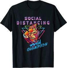 Social distancing world champion bigfoot retro t-shirt: Amazon.de: Bekleidung Amazon T Shirt, Champion, Skate Street, Tee T Shirt, Retro Color, Bigfoot, Gaudi, Funny Tshirts, Pop Art
