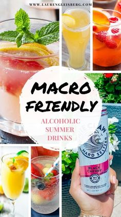 Healthy Alcoholic Drinks, Fun Drinks Alcohol, Alcohol Recipes, Macro Friendly Recipes, Macro Recipes, Macro Meal Plan, Macro Nutrition, Counting Macros, Macros Diet