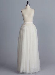 SAMPLE SALE ! Blair, Tulle de soie jupe - Della Giovanna - écru - - Bridal sépare - robe de mariée - robe de bal princesse - mariée