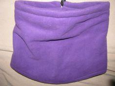 NEW Adjustable Fleece Neck Warmer Scark Face Mask Gaiter Tube, Purple