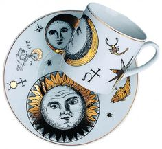 Cup & saucer by Piero Fornasetti.