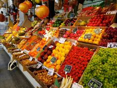 Shopping fruits and vegetables