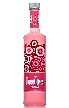 Three Olives Bubble Vodka... Add vodka, a shot of cranberry juice for color & some Sprite for the perfect bubblegum drink.