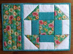 (7) Name: 'Quilting : CHURN DASH mug rug, snack mat, quilt