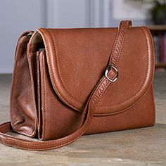 Marley Multi-Pocket Urbanizer - The women's leather organizer bag that lets you fit a lot in a little. - Levenger