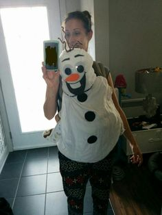 Olaf costume baby carrier