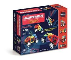 Amazon.com: Magformers Vehicle Wow Set (16-pieces): Toys & Games