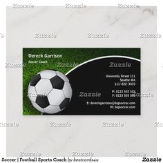 Soccer   Football Sports Coach Business Card Soccer Scores, Soccer Pro, Soccer Goalie, Soccer Guys, Soccer Coaching, Basketball Coach, Soccer Ball, British Premier League