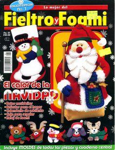 Revistas de Fieltro gratis: como hacer muñecos navideños en fieltro