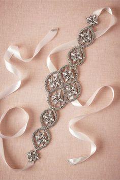 Crystal Lattice Sash in Bride Bridal Accessories at BHLDN Bridal Hair Accessories, Wedding Jewelry, Jewelry Accessories, Jewelry Party, Jewelry Ideas, Annabelle Dress, Wedding Belts, Wedding Dresses, Reception Dresses