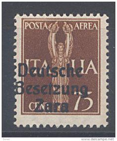 """D.Reich Besetzung """"Zara""""  Mi. 25 - Flug 75C Gelbbraun - Postfrisches LUXUS Stück !! - Occupation 1938-45"""