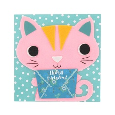 cat felt character card from Paperchase